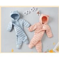 婴儿羽绒服连体衣宝宝衣服冬装
