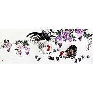 冯云龙《紫气东来》1.8米 著名画家