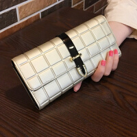 女士钱包新款女长款韩版潮个性时尚小手包简约牛皮钱夹大钞夹