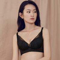 茵曼 女士内衣文胸无钢圈 薄款 透气 性感蕾丝胸罩9883432084