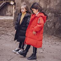 女童羽绒服外套加厚童装上衣儿童中长款大衣2017新款中大童秋冬装