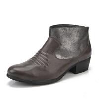Clarks/其乐女鞋2017秋冬新款真皮休闲短靴Langdon Town专柜正品直邮