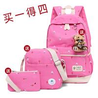 女包大容量帆布背包中小学生书包旅游休闲双肩背包儿童背包