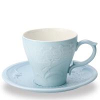 乾唐轩活瓷蝴蝶兰花咖啡/红茶两用杯陶瓷养生茶水杯