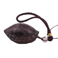 黑檀木手把件木雕乌龟大象乌木葫芦富甲天下龟壳把玩件貔貅男文玩