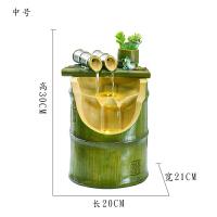 竹子简约流水摆件客厅桌面创意礼品招财风水轮喷泉家居饰品加湿器