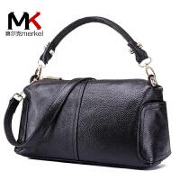 莫尔克(MERKEL)新款牛皮中年女包妈妈包时尚单肩斜跨包头层牛皮手提包