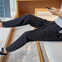 【1折价36.9元】唐狮新款休闲裤男韩版潮流运动裤修身束脚针织卫裤男生