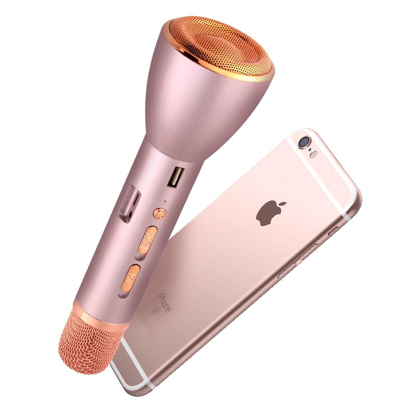 K088唱歌全民K歌神器手机麦克风家用无线蓝牙话筒音响一体安卓苹果电视通用儿童卡拉ok电容麦掌上KTV
