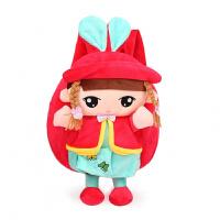 儿童书包宝宝1-3-4岁幼儿园男童卡通小背包可爱毛绒双肩包女孩