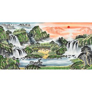 当代著名画家   薛永富水长流gs01528