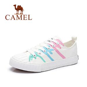 Camel/骆驼女鞋 春夏新款 休闲舒适透气帆布鞋