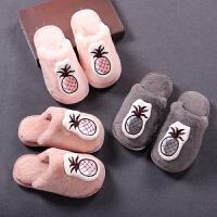 儿童拖鞋冬天女童棉拖鞋男童居家棉拖鞋毛毛拖鞋毛绒亲子拖鞋防滑