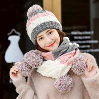 帽子女冬天毛线帽青年甜美可爱针织帽保暖时尚潮