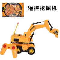 新款五通道遥控挖掘机电动工程玩具车闪光四驱挖掘机玩具