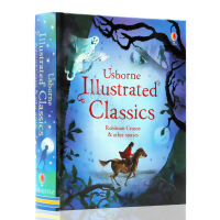 【满300-100】英文原版绘本Illustrated Robinson Crusoe other stories 鲁滨