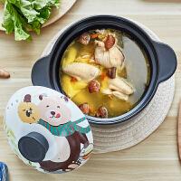 陶瓷砂锅 家用可爱卡通养生煮粥陶瓷砂锅炖锅汤煲瓦罐明火燃气煲汤煎药锅