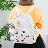 2017新款儿童韩版时尚印花小学生双肩包女童潮小背包休闲旅行包包