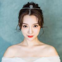 新娘皇冠头饰仙美结婚简约大气王冠发饰公主婚纱饰品