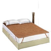 学生宿舍凉席单人床上下铺0.9可折叠方便携带夏凉席仿藤席 花团锦绣