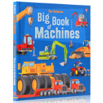 进口英文原版绘本 Usborne big book of machines 精装大开 大机器 儿童科普认知图画书 内含