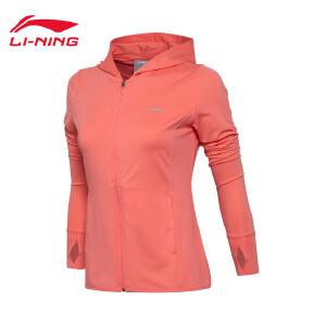 李宁卫衣女士训练系列开衫长袖外套速干凉爽运动服AWDM298
