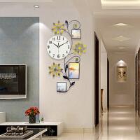 御目 挂钟 书房卧室客厅个性时钟现代欧式金属夜光挂表简约装饰静音机芯石英钟挂饰