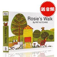 英文原版绘本 Rosie's Walk 母鸡萝丝去散步 纸板书儿童读本 廖彩杏有声书单 撕不烂书