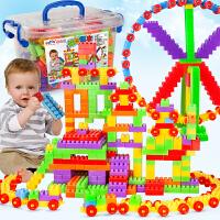 儿童大颗粒塑料拼插拼装积木宝宝益智男孩女孩小孩玩具1-2周岁3-6