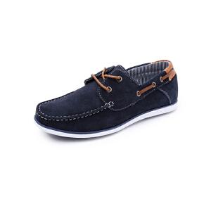 美特斯邦威男帆船结构系带板鞋271366