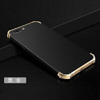 BaaN OPPOR11手机壳OPPOR11保护套防摔全包边防指纹电镀三段硬壳 黑金色