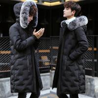 2018新款冬装羽绒服男中长款加厚帅气青少年学生情侣装韩版外套潮