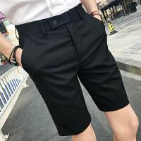 五分西裤 年浅灰色男士休闲短裤韩版中裤职业装直筒西裤修身
