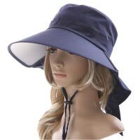 女夏天遮阳帽女大沿防晒帽太阳帽折叠骑车沙滩帽