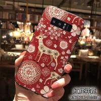 s8手机壳s8plus中国红硅胶套note8潮壳note5全包挂绳hdxl