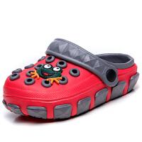 2019年夏季新品女童����拖鞋1-7�q防滑�胗��鐾闲��和�洞洞鞋男童沙�┬�男女中小童小孩包�^�鲂�