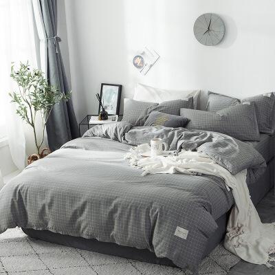 纯棉床上四件套全棉床笠床单220*240被套家纺用品套件  4件套 1.8x2.0m床笠款 被套 200*