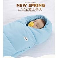 婴儿睡袋宝宝睡袋防踢被秋冬新款加绒加厚儿童羽绒棉抱被睡袋