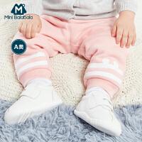 【618大促-每满100减50】迷你巴拉巴拉婴儿长裤男女童宝宝裤子冬装新款儿童加厚保暖棉裤