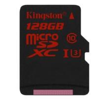 Kingston金士顿128G UHS-I C10 TF卡高速存储卡 读速90M/S中国红
