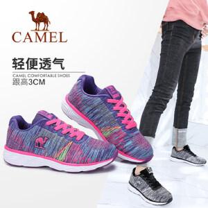 Camel/骆驼女鞋 2018春季新款轻便透气单鞋时尚活力低跟运动鞋