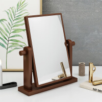 【一件3折】台式桌面化妆镜挂式梳妆台圆形方形镜子卧室翻转镜子北欧简约镜子