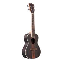 黑檀木23寸26寸�W校黑色夏威夷小吉他男女