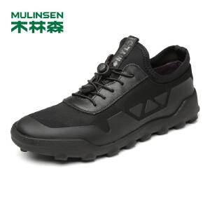 木林森休闲鞋男鞋 板鞋男透气男士运动鞋子男休闲皮鞋77053607