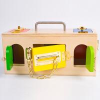 幼儿园蒙特梭利蒙氏早教益智教具儿童学开锁玩具锁箱