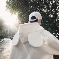 港风chic卫衣男秋冬季加绒韩版潮流学生上衣连帽宽松ins情侣外套