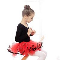 儿童舞蹈服装练功服 幼儿秋冬季纱裙蓬蓬裙 女童长袖芭蕾舞裙