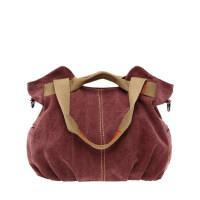 帆布包包休闲简约撞色手提包单肩包斜挎包 女包大包包