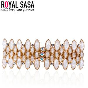 皇家莎莎RoyalSaSa头饰韩版时尚发卡流行款合金人造水晶发夹发饰-似水云间