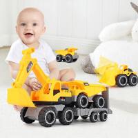 蓓臣 惯性工程车彩盒装 模型玩具仿真铲车挖掘机组合